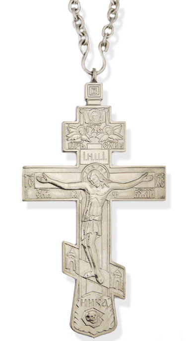 Priest Pectoral Cross Silver Plated