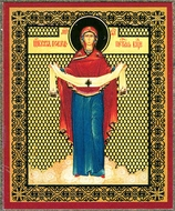 Protection of the Mother of God, Orthodox Mini Icon