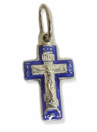 "Pure Sterling Silver Cross Crucifix, ""Save Us"""