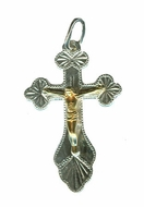 Pure Sterling Silver Cross with Gilt