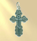 Pure Sterling Silver Orthodox Cross, 43840-1