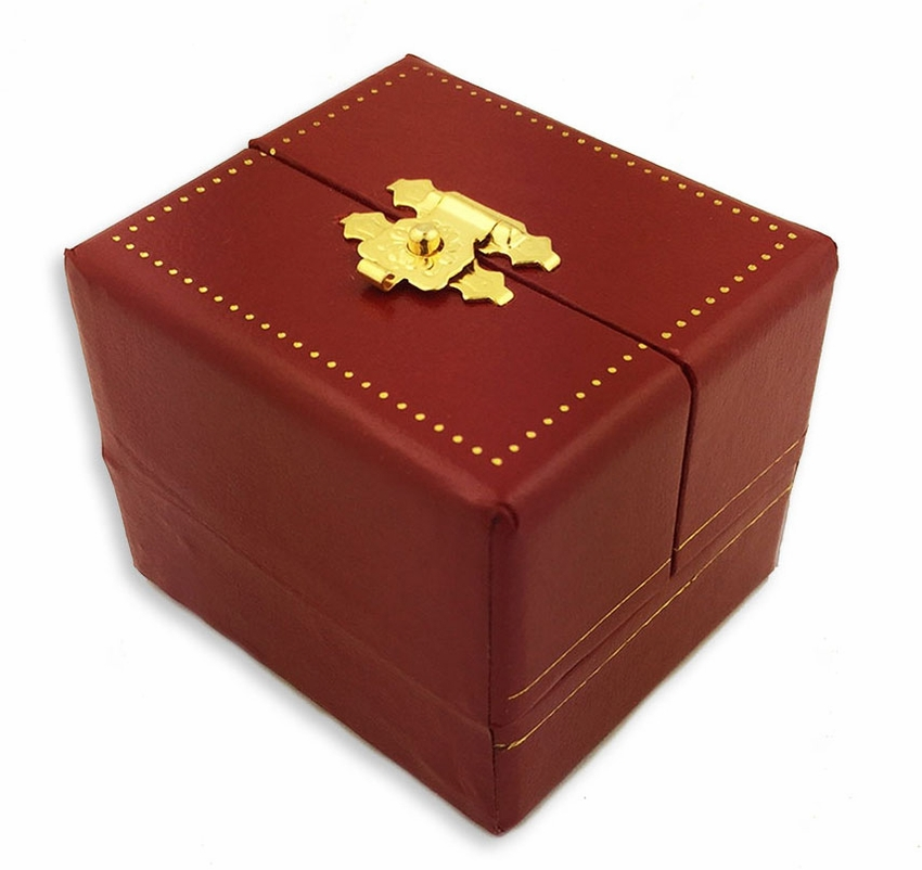 Red Faux Leather Jewelry Box, Cartier Style - at Holy Trinity Store