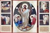 Resurrection of Christ, Foldable Orthodox Triptych Icon
