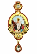 Resurrection of Christ, Jeweled Icon Ornament