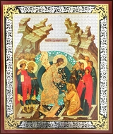 Resurrection of Christ, Wooden Based Mini Icon