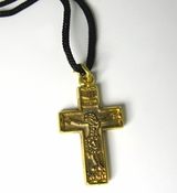 Reversible Neck Cross with Rope, 1 3/4""