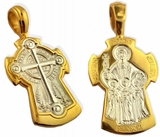 Reversible Orthodox Cross with  St. Sofia and Daughters