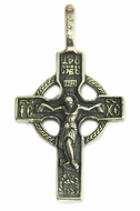 Reversible Pure Sterling Silver Orthodox Cross Crucifix