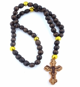 Wooden Rosary  Beads Prayer Rope