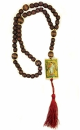 Rosary Beads with Icons of  Archangel and Christ