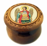 Rosary Keepsake Holder Box with Icon of Arch. Michael