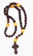 Russian Wooden Prayer Beads Rope, 50 Knots