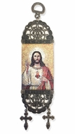 "Sacred Heart of Jesus, Tapestry Icon Banner, 7"" H"