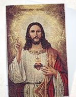 Sacred Heart of Jesus, Tapestry Icon Greeting Card with Envelope