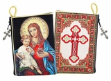 Sacred Hearts of Jesus and Virgin Mary,  Rosary Icon Pouch  Case