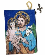 Saint Joseph, Reversible Rosary Icon Pouch Case