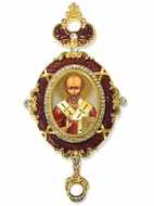 Saint Nicholas,    Enameled Jeweled Icon Ornament