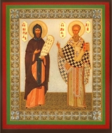 Saints Cyril and  Methodius, Orthodox Mini Icon