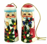 Santa Claus,  Wooden  Christmas Ornaments, Set of  2