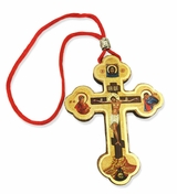 Small Wooden Icon Cross on  Rope