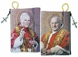 St John XXIII & St John Paul II, Two Sided Rosary Pouch Case