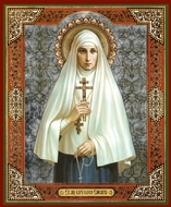 St. New-Martyr Grand Duchess Elizabeth, Gold Foiled Orthodox Icon