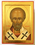 St. Nicholas the Wonderworker, Orthodox Christian Hand Painted Icon