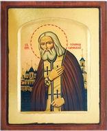 St Seraphim Sarovsky, Orthodox Serigraph Icon with Stand