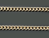 Sterling Silver, 24 KT Gold  Plated Chain