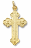 Sterling Silver 24kt Gold Plated Orthodox Cross