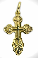 Sterling Silver 925 Gold Plated Orthodox Cross