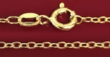 Sterling Silver 925 Stamped, Gold Plated Chain, 22""