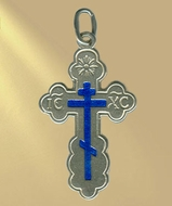 Sterling Silver Cross, Orthodox Cross