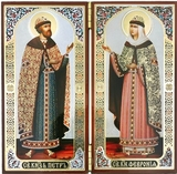 Sts. Peter and Fevronia of Murom, Diptych
