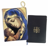Virgin Mary and Christ, Tapestry Case for Bible, iPad.