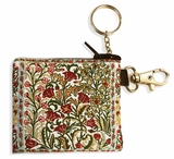 Tapestry Holder for Rosary with Key Chain, Tulips Design