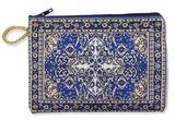 Tapestry Pouch Case Purse, Blue