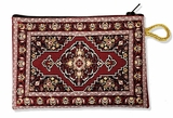 Tapestry Pouch Case Purse, Burgundy