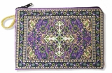 Tapestry Pouch Case Purse, Purple