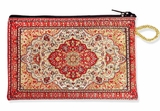 Tapestry Pouch Case Purse, Red-Gold