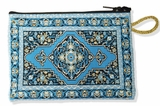 Tapestry Pouch Case Purse, Turquoise