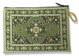 Tapestry Pouch Case Purse, Green