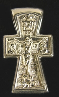 The Crucifixion / Baptism of Christ, Sterling Silver Cross
