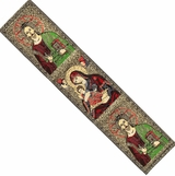 The Christ and Virgin Mary, Tapestry  Icon  Book Marker