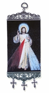"""The Devine Mercy, Tapestry Icon Banner, `10"""" H"""