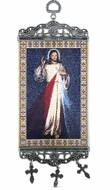 "The Divine Mercy,  Textile Art  Tapestry Icon Banner, `10"" H"