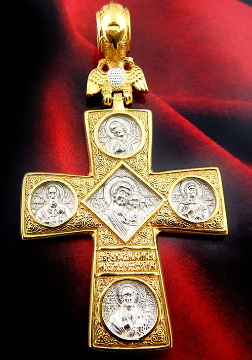 The Gold Silver Cross With Double Headed Eagle Amp Virgin Of