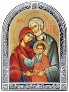 The Holy Family, Greek Orthodox Serigraph Framed Icon