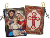 The Holy Family,  Rosary Icon Pouch  Case