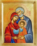 The Holy Family, Serigraph Orthodox Icon